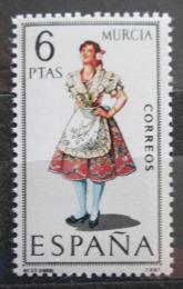 Poštovní známka Španìlsko 1969 Lidový kroj Murcia Mi# 1830