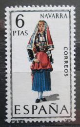 Poštovní známka Španìlsko 1969 Lidový kroj Navarra Mi# 1831