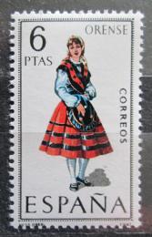 Poštovní známka Španìlsko 1969 Lidový kroj Orense Mi# 1839