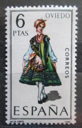 Poštovní známka Španìlsko 1969 Lidový kroj Oviedo Mi# 1843
