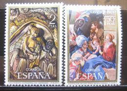 Poštovní známky Španìlsko 1969 Vánoce, umìní Mi# 1837-38