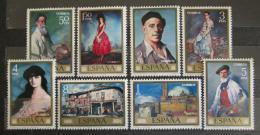 Poštovní známky Španìlsko 1971 Umìní, Ignacio Zuloaga Mi# 1912-19