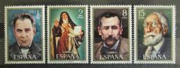 Poštovní známky Španìlsko 1971 Osobnosti Mi# 1921-24