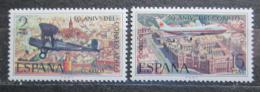Poštovní známky Španìlsko 1971 Letadla Mi# 1954-55