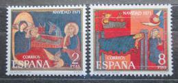 Poštovní známky Španìlsko 1971 Vánoce, umìní Mi# 1956-57
