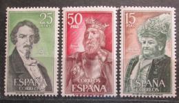 Poštovní známky Španìlsko 1972 Osobnosti Mi# 1966-68