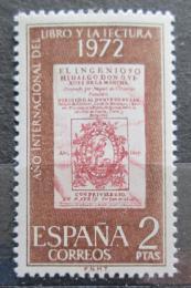 Poštovní známka Španìlsko 1972 Mezinárodní rok knihy Mi# 1971