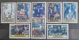 Poštovní známky Španìlsko 1972 Umìní, José Gutiérrez Solana Mi# 1972-79