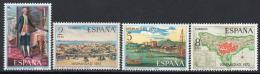 Poštovní známky Španìlsko 1972 Španìlsko-americké dìjiny Mi# 2002-05