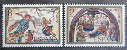 Poštovní známky Španìlsko 1972 Vánoce, umìní Mi# 2010-11