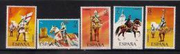 Poštovní známky Španìlsko 1973 Vojenské uniformy Mi# 2034-38