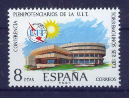 Poštovní známka Španìlsko 1973 Konferenèní budova ITU Mi# 2040