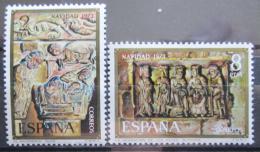 Poštovní známky Španìlsko 1973 Vánoce, umìní Mi# 2057-58