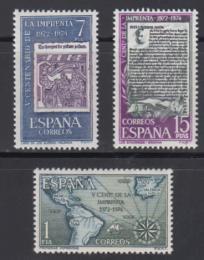 Poštovní známky Španìlsko 1973 Knihtisk ve Španìlsku, 500. výroèí Mi# 2059-61