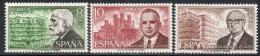 Poštovní známky Španìlsko 1975 Stavitelé Mi# 2135-37