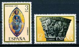 Poštovní známky Španìlsko 1975 Vánoce Mi# 2193-94