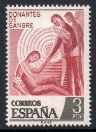 Poštovní známka Španìlsko 1976 Dárcovství krve Mi# 2248