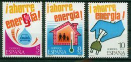 Poštovní známky Španìlsko 1979 Šetøení energiemi Mi# 2400-02