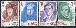 Poštovní známky Španìlsko 1979 Spisovatelé Mi# 2404-07