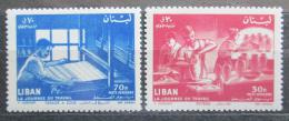 Poštovní známky Libanon 1961 Den práce Mi# 718-19