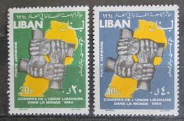 Poštovní známky Libanon 1964 Kongres Libanoncù ze zahranièí Mi# 876-77