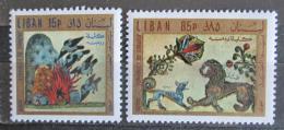Poštovní známky Libanon 1971 Umìní, den dìtí Mi# 1110-11