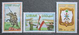 Poštovní známky Libanon 1980 Den armády Mi# 1293-95