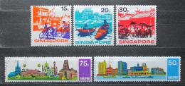 Poštovní známky Singapur 1971 ASEAN, rok turismu TOP SET Mi# 133-37 Kat 17€