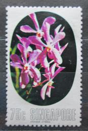 Poštovní známka Singapur 1976 Orchidej Mi# 253 Kat 4€