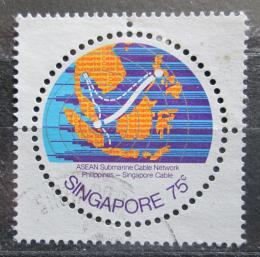 Poštovní známka Singapur 1978 Mapa Mi# 313