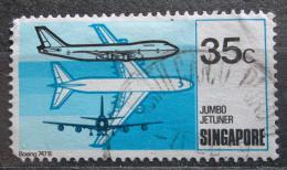 Poštovní známka Singapur 1978 Boeing 747 B Mi# 319