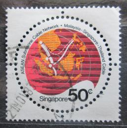 Poštovní známka Singapur 1983 Mapa Mi# 434