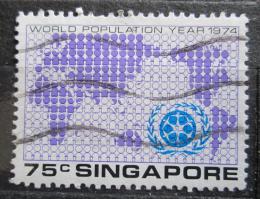 Poštovní známka Singapur 1974 Mapa svìta Mi# 220 Kat 3€