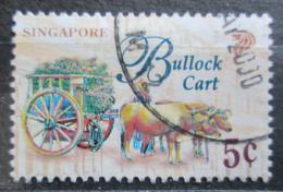Poštovní známka Singapur 1997 Vùz tažený voli Mi# 830