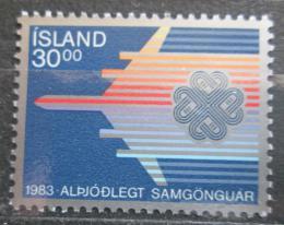 Poštovní známka Island 1983 Svìtový rok komunikace Mi# 605