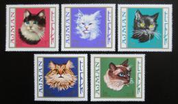 Poštovní známky Adžmán 1968 Koèky Mi# 318-22