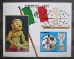 Poštovní známka Manáma 1970 MS ve fotbale pøetisk neperf. Mi# Block 62 B Kat 9€