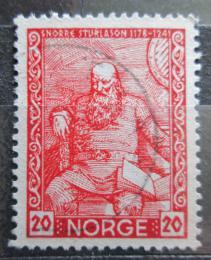 Poštovní známka Norsko 1941 Snorri Sturluson, islandský básník Mi# 261