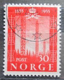 Poštovní známka Norsko 1954 Telegraf, 100. výroèí Mi# 388