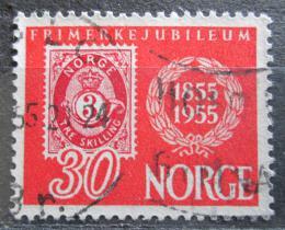 Poštovní známka Norsko 1955 První norské známky, 100. výroèí Mi# 391