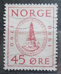 Poštovní známka Norsko 1960 Královská vìdecká spoleènost, 100. výroèí Mi# 440