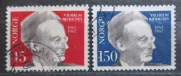 Poštovní známky Norsko 1962 Vilhelm Bjerknes, meteorolog Mi# 466-67