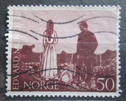 Poštovní známka Norsko 1963 Døevoøezba, Edvard Munch Mi# 510