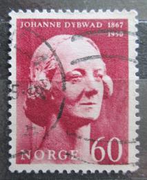 Poštovní známka Norsko 1967 Johanne Dybwad, hereèka Mi# 558