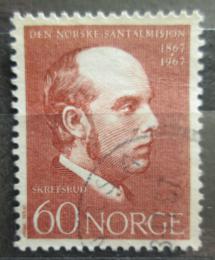 Poštovní známka Norsko 1967 Lars Skefsrud, misionáø Mi# 559