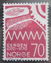 Poštovní známka Norsko 1970 Bergen, 900. výroèí Mi# 609
