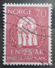 Poštovní známka Norsko 1970 OSN, 25. výroèí Mi# 611