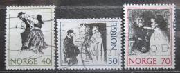 Poštovní známka Norsko 1971 Pohádky Mi# 630-32