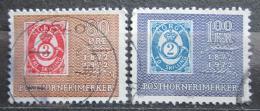Poštovní známky Norsko 1972 Známky s poštovní trubkou, 100. výroèí Mi# 637-38