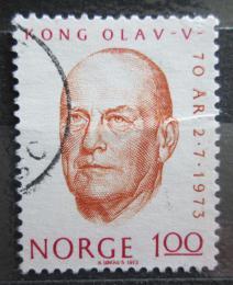 Poštovní známka Norsko 1973 Král Olav V. Mi# 664